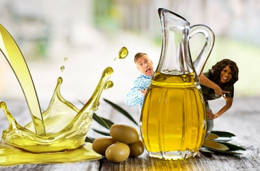 matt spilled olive oil