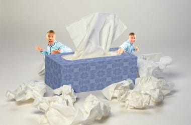 matt tissues and handkerchief