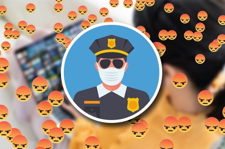 matt and ramona mask police