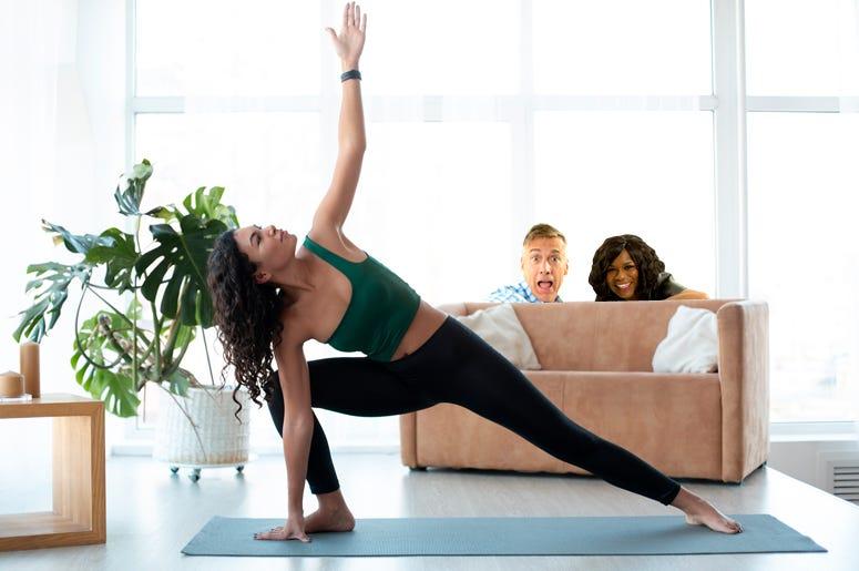 matt and ramona stretching