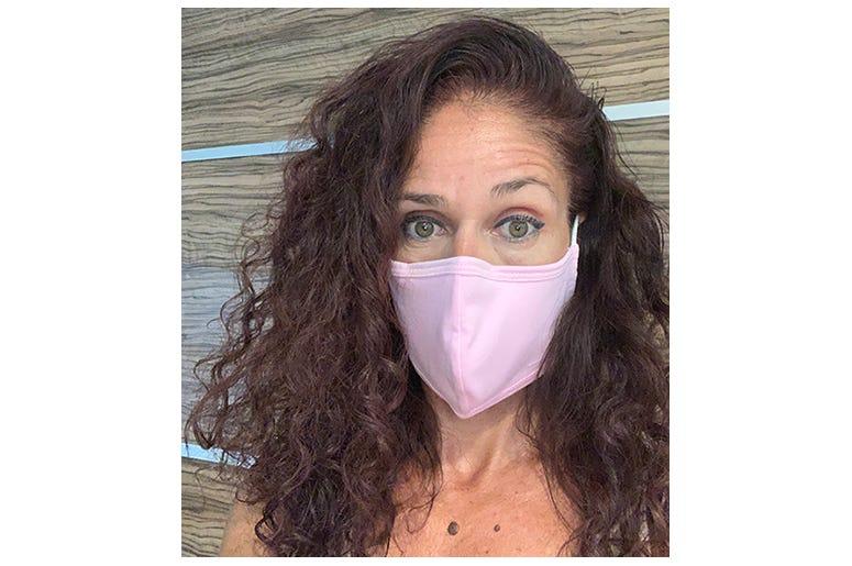 Julie wearing her Boomer Naturals Mask!