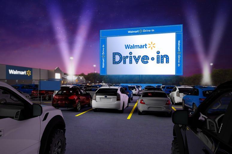 Walmart Drive-In Movie