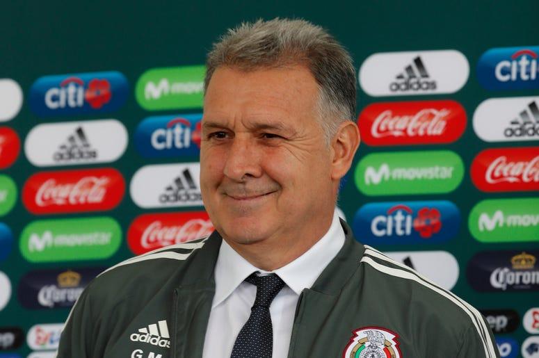 El argentino Gerardo Martino es presentado como el nuevo técnico de la selección mexicana de fútbol, durante una conferencia de prensa en Ciudad de México, el lunes 7 de enero de 2019.