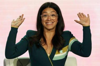 """Gina Rodríguez habla sobre la temporada final de """"Jane the Virgin"""" durante una conferencia de críticos de la TV, el jueves 31 de enero del 2019 en Pasadena, California."""