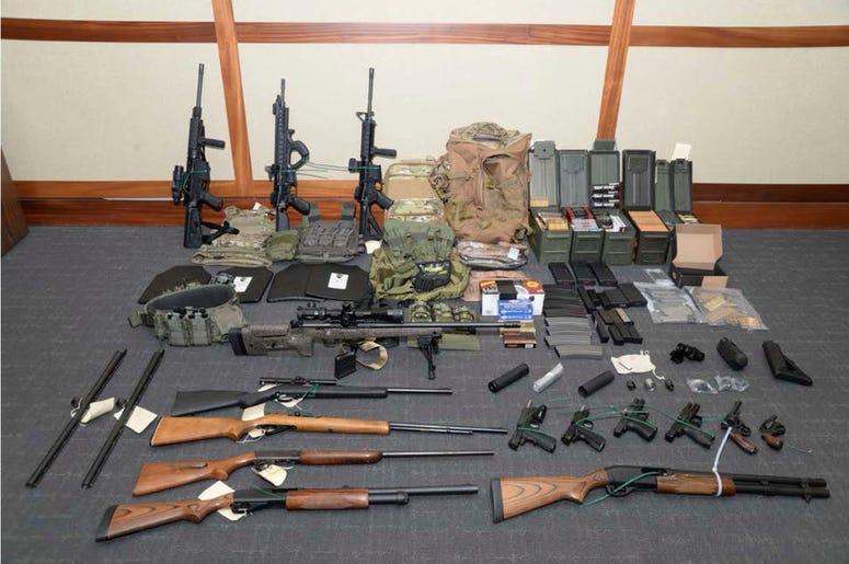 Imagen proporcionada por la corte federal de Maryland de armas de fuego y municiones.