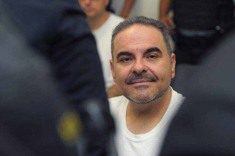 En esta foto de archivo del 8 de agosto de 2018, el expresidente salvadoreño Tony Saca asiste a una audiencia ante un juez en San Salvador, El Salvador.