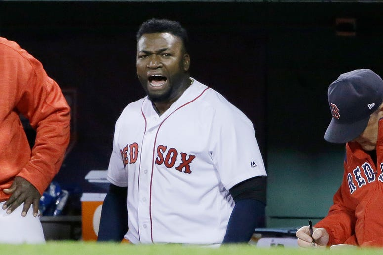 Big Papi David Ortiz in the dugout