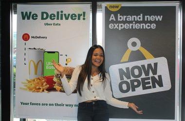 Elsa Sanchez en McDonald's
