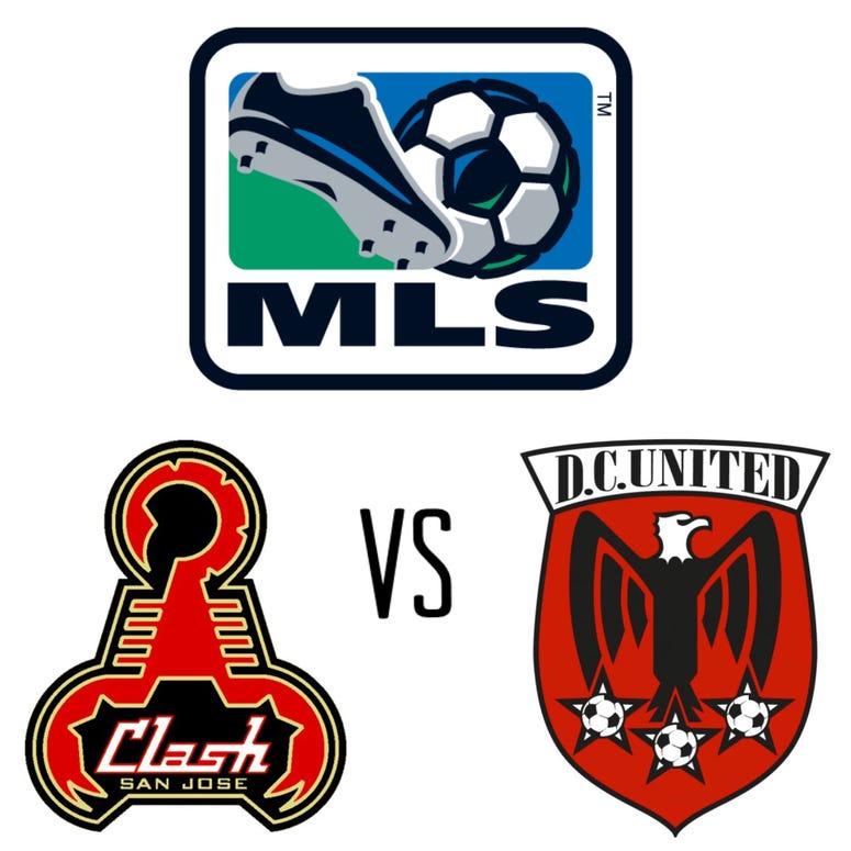 MLS, San Jose Clash and DC United Original logos