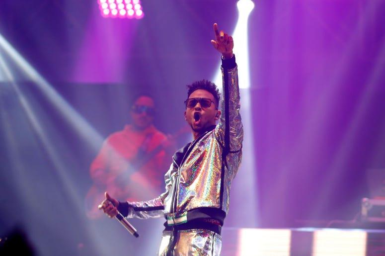 Ozuna performs during Calibash Las Vegas at T-Mobile Arena on January 26, 2019 in Las Vegas, Nevada.