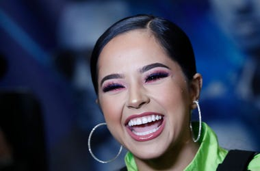 Becky G laughs as she is interviewed backstage during Calibash Las Vegas at T-Mobile Arena on January 26, 2019 in Las Vegas, Nevada.