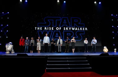Billy Dee Williams, Anthony Daniels, Keri Russell, Naomi Ackie, Joonas Suotamo, Kelly Marie Tran, Oscar Isaac, John Boyega, Daisy Ridley, Producer Kathleen Kennedy, and Director/producer/writer J.J. Abrams of 'Star Wars: The Rise of Skywalker' took part t