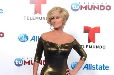 Christian Bach arrives for Telemundo's Premios Tu Mundo Awards at American Airlines Arena on August 15, 2013 in Miami, Florida.