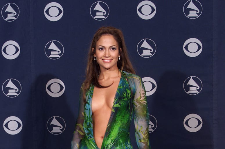 Jennifer Lopez backstage at the 42nd Annual Grammy Awards at Staples Center in Los Angeles, 2/23/00.
