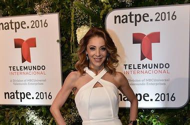 Edith Gonzalez attends Telemundo NATPE party on January 19, 2016 in Miami Beach, Florida.