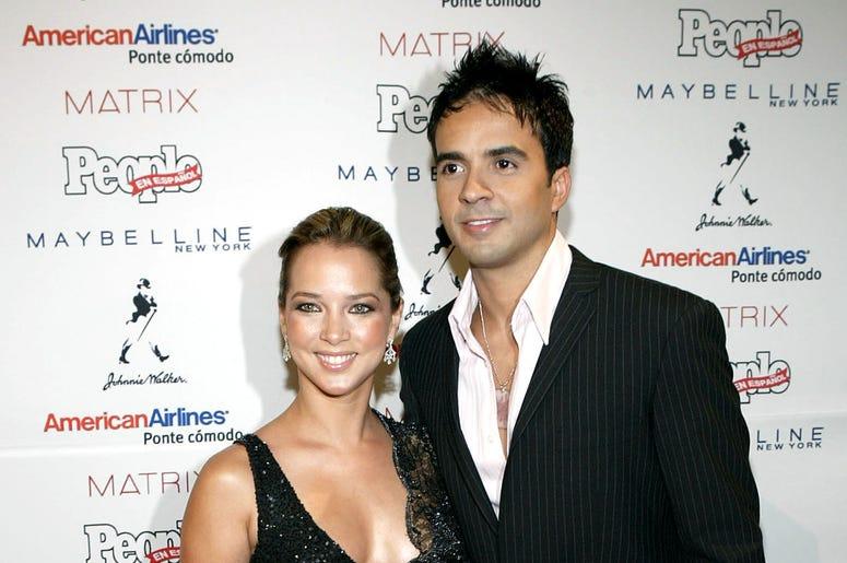 Actress Adamari Lopez and singer/songwriter Luis Fonsi attend the 'People En Espanol' 50 Most Beautiful People Gala at Splashlight Studios May 19, 2004 in New York City.