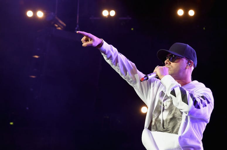 Wisin performs onstage during Calibash Los Angeles 2018 at Staples Center on January 20, 2018 in Los Angeles, California.