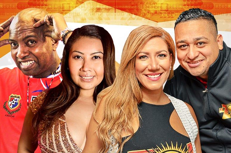 Rey, Sandee Bonita, Patricia De Lima, y Chepe