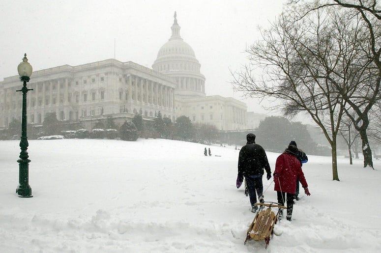 Washington Capitol Snow Sled