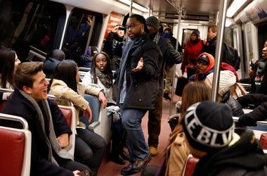 Interior of a DC Metro car