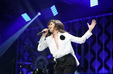 Camila Cabello sings onstage