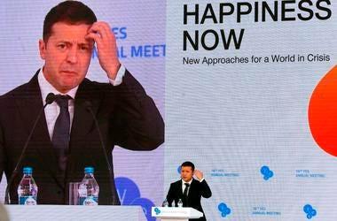 Foto tomada el 13 de septiembre del 2019 del presidente de Ucrania Volodymyr Zelenskiy en un evento en Kiev. Las revelaciones de que el presidente Donald Trump presionó al presidente de Ucrania para que investigue al ex vicepresidente Joe Biden crean un d
