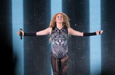Shakira performs in concert at Madison Square Garden on August 10, 2018 in New York City.