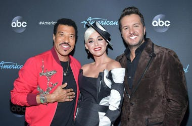 "Lionel Richie, Katy Perry and Luke Bryan attend ABC's ""American Idol"" Finale on May 19, 2019 in Los Angeles, California."