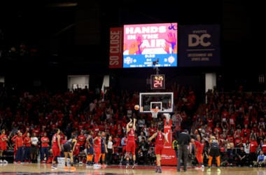 lena Delle Donne #11 of Washington Mystics shoots a free throw during the first half against the Connecticut Sun during Game Five of the 2019 WNBA Finals at St Elizabeths East Entertainment & Sports Arena on October 10, 2019 in Washington, DC.