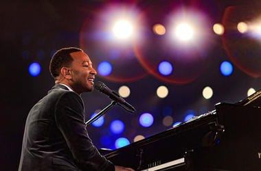 Singer John Legend performs onstage during the 2016 MusiCares Person of the Year honoring Lionel Richie at the Los Angeles Convention Center on February 13, 2016 in Los Angeles, California.