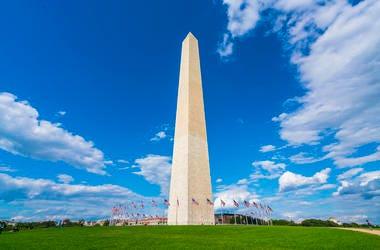 Washington Monument on a sunny day