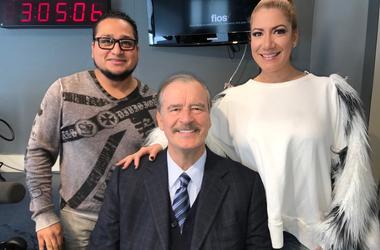 """Vicente Fox with Patricia De Lima and Chepe of El Zol 1079's """"El Meneo"""""""