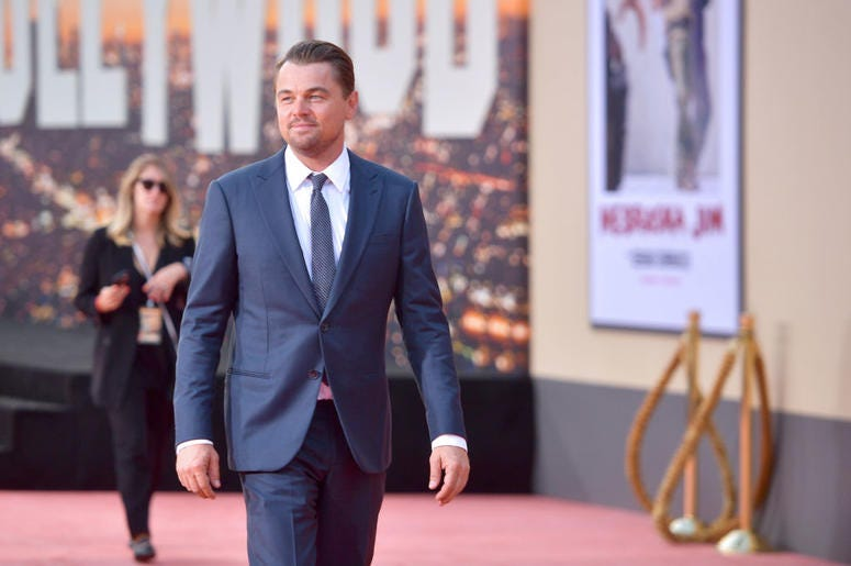 """Leonardo DiCaprio attends Sony Pictures' """"Once Upon A Time...In Hollywood"""" Los Angeles Premiere on July 22, 2019 in Hollywood, California."""