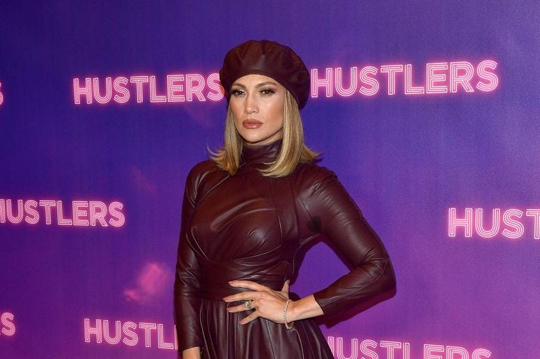 "Jennifer Lopez attends STX Entertainment's ""Hustlers"" Photo Call at Four Seasons Los Angeles at Beverly Hills on August 25, 2019 in Los Angeles, California."