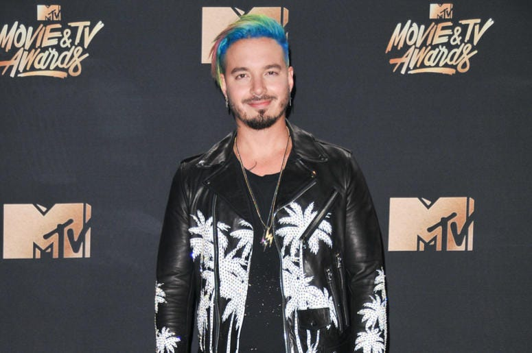 J Balvin on a red carpet