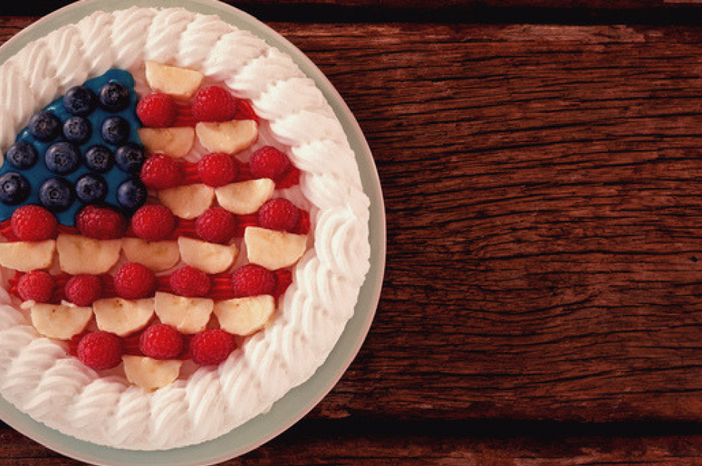 Fruitcake with 4th july theme.