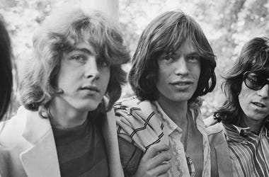 (L-R) Mick Taylor, Mick Jagger, Keith Richards