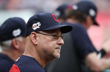 Manager Terry Francona of the Cleveland Indians at Globe Life Park in Arlington