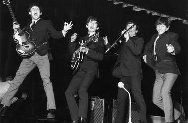Paul McCartney, George Harrison (1943 - 2001), John Lennon (1940 - 1980) and Ringo Starr