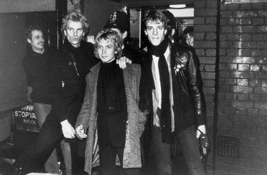 left to right, they are Sting, Andy Summers and Stewart Copeland.