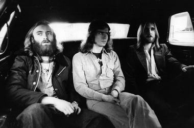Genesis, from left to right Phil Collins, Tony Banks and Mike Rutherford