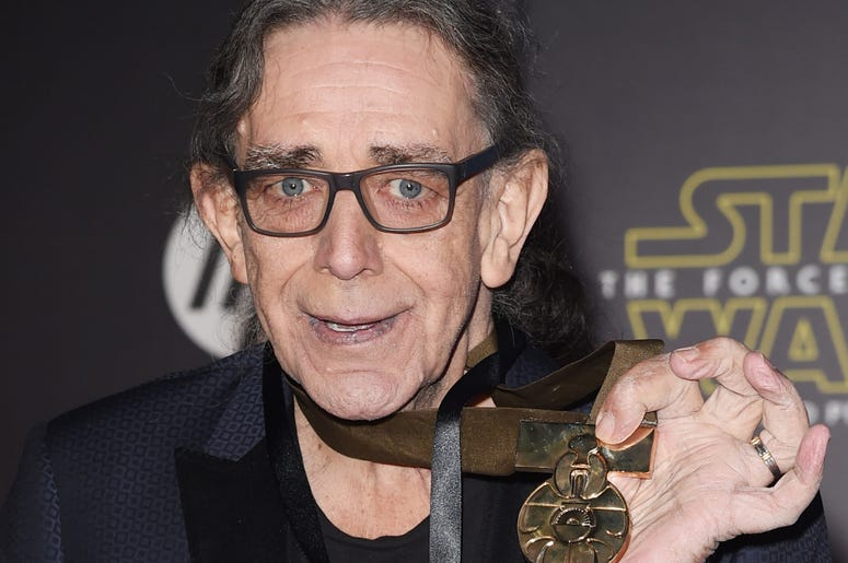 "Actor Peter Mayhew attends the premiere of Walt Disney Pictures and Lucasfilm's ""Star Wars: The Force Awakens"""