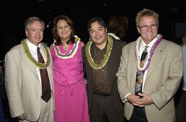 Keith Olsen (far right) with Jay Larrin, Kimberly Agas and Alan Yamamoto