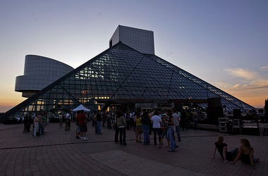 CLEVELAND - AUGUST 05: A general view of the Rock and Roll Hall of Fame and Museum as Chairlift performs on August 5, 2009 in Cleveland, Ohio. (Photo by Mike Lawrie/Getty Images)