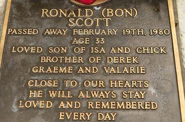 Bon Scott Headstone