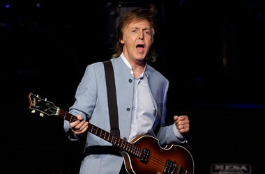 Paul McCartney performs