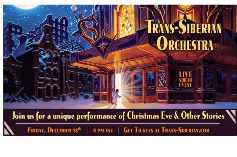 Trans Siberian Orchestra 2020 Christmas Special Trans Siberian Orchestra Special Livestream Event | 98.5 WNCX