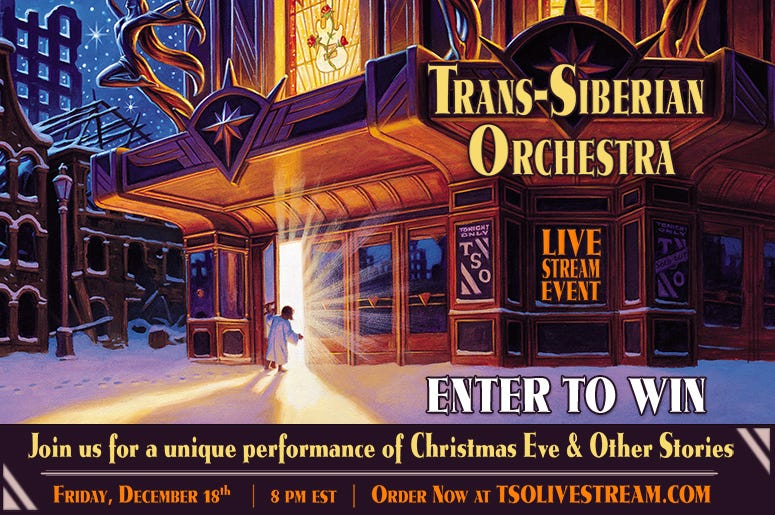 Trans Siberian Orchestra Livestream Enter to Win