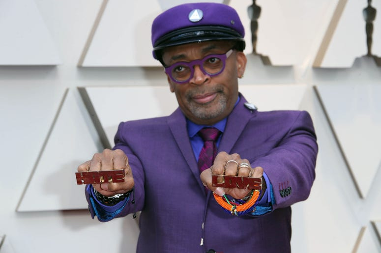 Spike Lee arrives at the 91st Academy Awards at the Dolby Theatre.