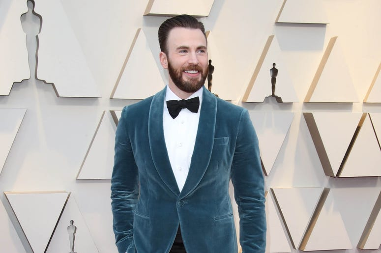 Chris Evans arrives at the 91st Academy Awards at the Dolby Theatre.